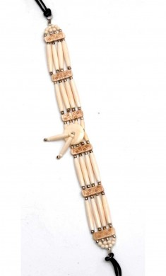 Buy 40576-beige & White - 10 Bone Chokers in US