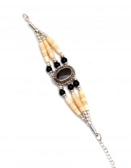 Buy 6887-blk-bone-bracelet in US