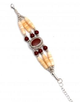 Buy 6887-maroon Bone Bracelet in US