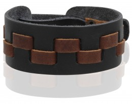 Buy 985 Leather Snap Bracelet - Black in US
