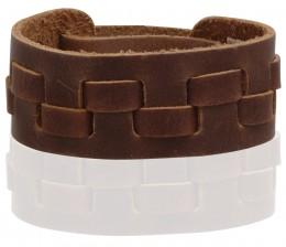 Buy 985 Leather Snap Bracelet - Brown in US