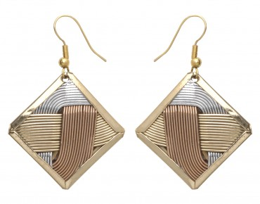 Basket Weave Earrings in US
